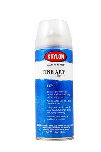 Krylon K01374000 Gallery Series Fixatif Aerosol Spray, 11 Ounce