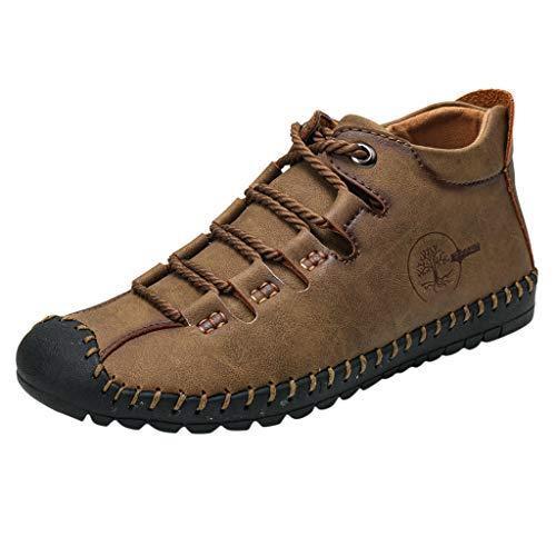 Hotopick Trendy Retro Vechtlaarzen voor heren, suède, vrijetijdsschoenen, ademende sokken, mond, motorfiets, gereedschap, lederen schoenen