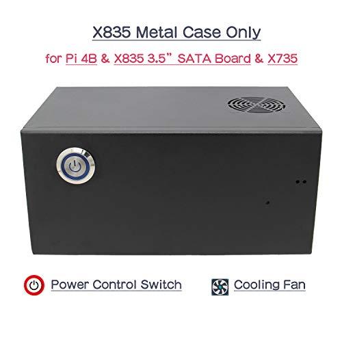 Geekworm X835 Metal Case Compatible with Raspberry Pi 4 & 1 PCS X835 3.5
