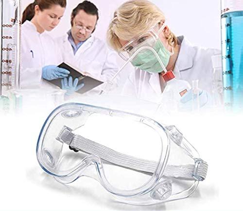 Gafas Protectoras Virus, Lentes de Seguridad Antivaho Prueba de Rayos UV Prueba de Impacto Arena a...