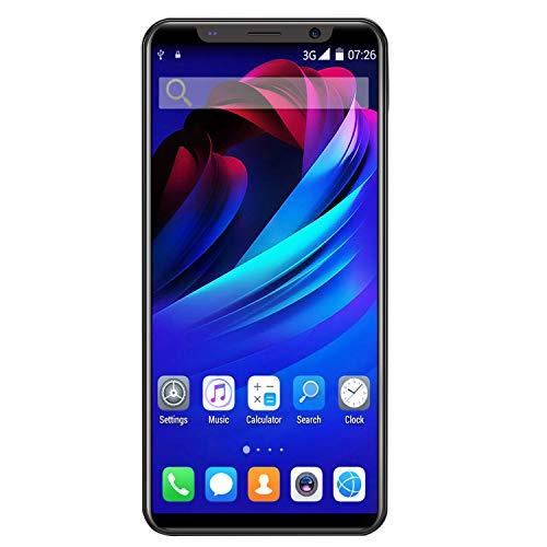 Kamenda X27Plus 5.8 Pulgadas ConfiguracióN de Pantalla Grande 512MB + 4GB Dual SIM Dual Standby Phone Desbloqueo Facial 3G Phone Negro EU Plug