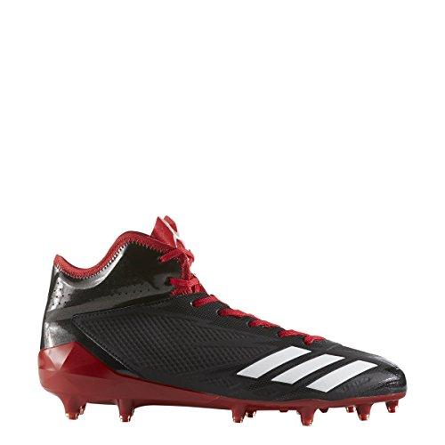 Adidas Adizero 5-Star 6.0 Mid Cleat - Balón de fútbol para hombre, Negro (Core Black-white-power Rojo), 43 EU
