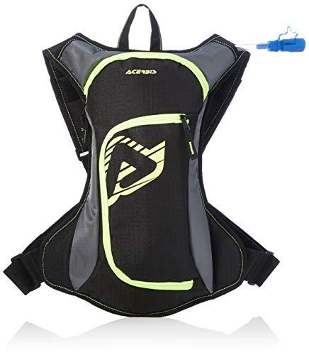 Acerbis DIO0000790 Zainetto Acqua Drink Bag, Nero/Giallo