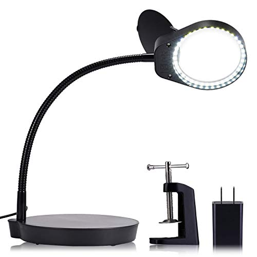 Holulo Magnifying Lamp Magnifying Glasses with Light 3X 10X...