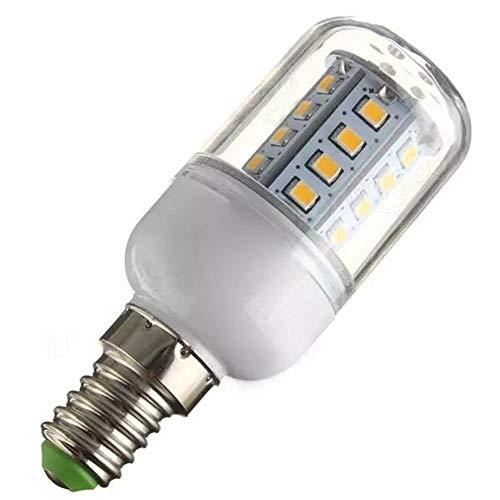WULE-RYP E14 3.3W 30 SMD 2835 LED Bulb di Mais Bianco Caldo/Bianco 110 (Color : Warm White)