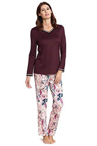Rösch Damen Pyjama mit Buntem Blumendruck Harmony, New Romance, 1193579 46 Flowersymphony