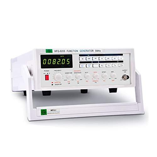 YZLP osciloscopio Función Generador de señal Medidor de frecuencia 5MHz Fuente de señal de Forma de Onda múltiple Pulso MFG-8205 (Size : 220V)