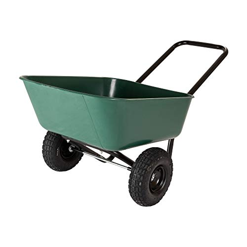 Garden Star 70019 Garden Barrow Dual-Wheel Wheelbarrow/Garden Cart