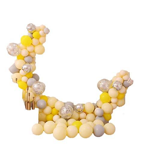 Geagodelia - Juego de globos de látex, juego de globos para la fiesta de cumpleaños, baby shower, decoración para San Valentín amarillo Como se muestra