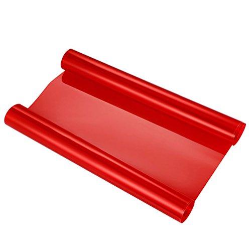 VORCOOL Pellicola Adesiva Rosso per fari fanali di Auto e Moto per Decorazione e Protezione di 40x60 cm