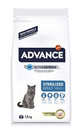 ADVANCE Pienso para Gatos Esterilizados Adultos con Pavo - 1,5Kg ✅