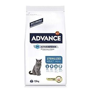 Advance Sterilized-Pienso para Gatos Adultos Esterilizados con Pavo Y Cebada-1.5 Kg, Multicolor, 1500 10