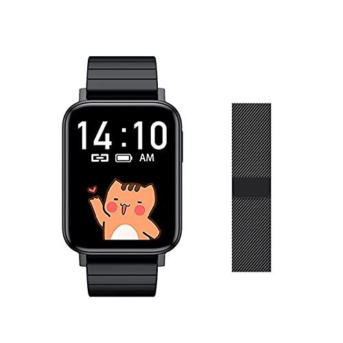 T10 Sports Smart Watch Men's Y Women's IP67 IP67 Impermeable Fitness Fitness Fitness Tarifa Cardíaca Presión Arterial Tracker Control De Música Pulsera para Android iOS,B