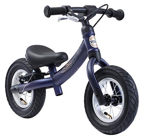 BIKESTAR Mitwachsendes Kinder Laufrad Lauflernrad Kinderrad für Jungen und Mädchen ab 2-3 Jahre | 10 Zoll Flex Sport Kinderlaufrad | Dunkelblau | Risikofrei Testen
