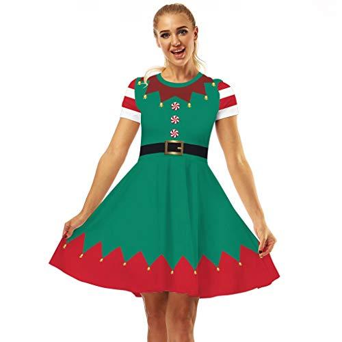 Find Discount KYLEON Women's Christmas Dress Retro Vintage 1950s Christmas Party Dresses Cocktail A-...