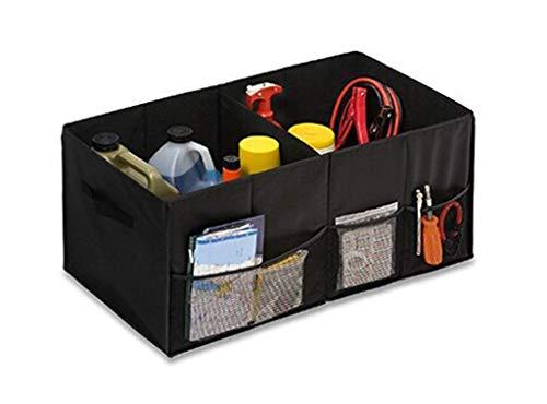 CMYK Borse per Bagagliaio, Auto Organizer Bagagliaio Pieghevole con 2 Grandi vani e 3 Tasche Laterali per Auto, SUV, Camion, Minivan