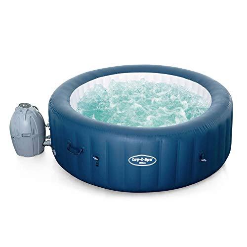 Alice's Garden Spa Lay-Z Airjet Plus – Milan blau – aufblasbarer Whirlpool für 6 Personen, rund, Ø 200 cm, PVC, mit Fernbedienung, Heizung, Luftpumpe, Filter, Diffusor, Isolierdecke
