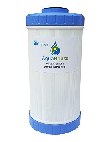WFMSUPER10BB Filtro de repuesto para EcoPlus 1st Pod - Filtro de agua anual - AquaHouse/Water Filter Man Ltd marca