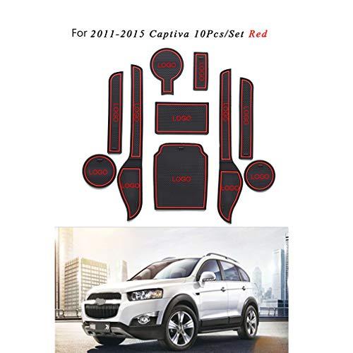 10 stks/set Bekerhouder antislip Pad Decor Gate Slot Deur Groeven Mat Vervanging Voor Chevrolet Captiva 2011-2017