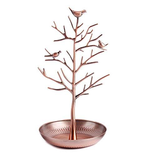 PPuujia Soporte de exhibición para joyas, soporte de árbol, pájaro, collar, pendiente, pulsera de almacenamiento (color: 1)