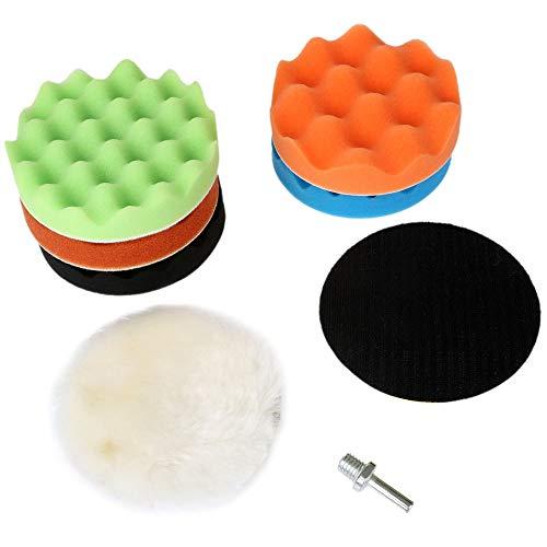 GFHDGTH 8 stks spons polijstpad 3/4/5/6/7 inch polijsten waxen pad, voor auto polijstmachine buffer M10 / M14 boor adapter wiel polijstmachine, 6 inch M14