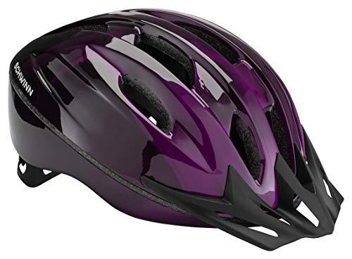 Schwinn Intercept Bike Helmet, Easy Adjustable Dial For Custom Fit, Adult, Purple