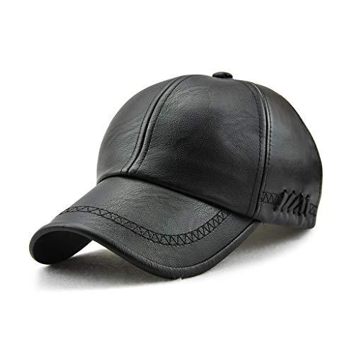 Govicta Men Baseball Cap PU Leather Classic Vintage Newsboy Caps Ivy Driving Hat for Men