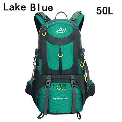 Generic Sac à dos d'extérieur 40 l 50 l 60 l imperméable pour randonnée et sports de plein air Convient pour le plein air, l'alpinisme, le cyclisme, la pêche, l'escalade, le camping Bleu lac 50 l