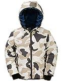 Wantdo Boy's Windproof Coat Hooded Casual Jacket Windbreaker White Camo 6/7
