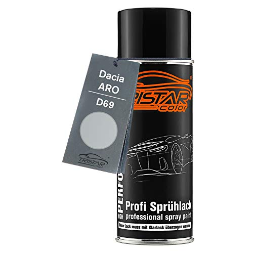 TRISTARcolor Autolack Spraydose für ARO/Dacia D69 Gris Platine Metallic/Platin Grau Metallic Basislack Sprühdose 400ml