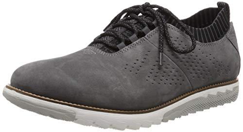 Hush Puppies Herren Expert Knit Oxford Sneaker, Grau (Dark Grey 000), 42 EU