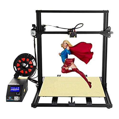 Creality CR-10 S5 Plus 3D Printer High Precision by Rabate with Massive Print Size 500x500x500mm and Dual Z-axis Semi-Assembled - Black