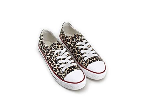 Modelisa - Zapatillas Baja Mujer (Leopardo, Numeric_39)