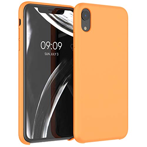kwmobile Hülle für Apple iPhone XR - Hülle Handyhülle gummiert - Handy Hülle in Cosmic Orange