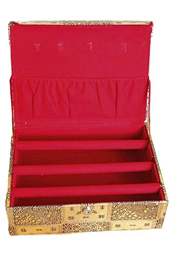 Sonisha BAN3003 3 Roll Ethnic Bracelet Holder, Bangle Storage Box, Jewellery Organiser