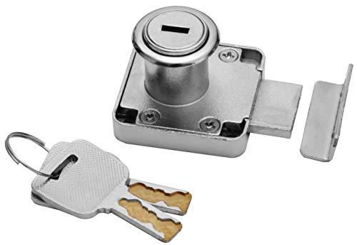 sarian - Cerradura para Muebles con Llave de Seguridad, 2 tamaños, 22 mm, 32 mm, Profundidad de Montaje, cajones, Cerradura de Seguridad, Cerradura empotrada, Llave Especial, Bloqueo de cajones