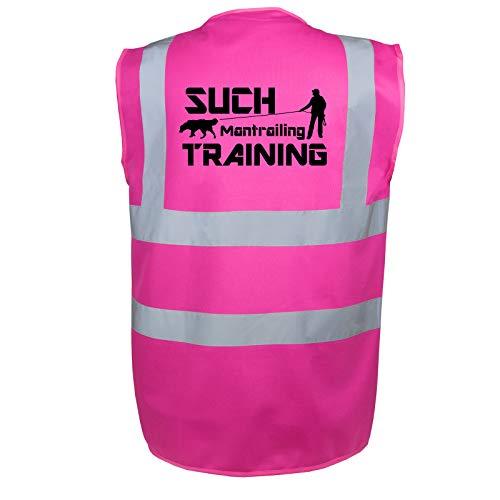 Mantrailing Warnweste Hundesport Sicherheitsweste Suchteam (Motiv 1) (XXL, Pink)