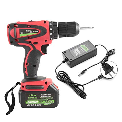 Rechargeable Screwdriver, 110V/220V 1500rpm 54N 8000mAh Cordless Rate Adjustment Electric Screwdriver Drill with Li Battery and Charger for Removing Fastening Screws(US Plug)