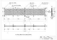 ゲート工業 アルミゲート 高さ1.8m 間口9.6m 両開き 18AYW-96-24