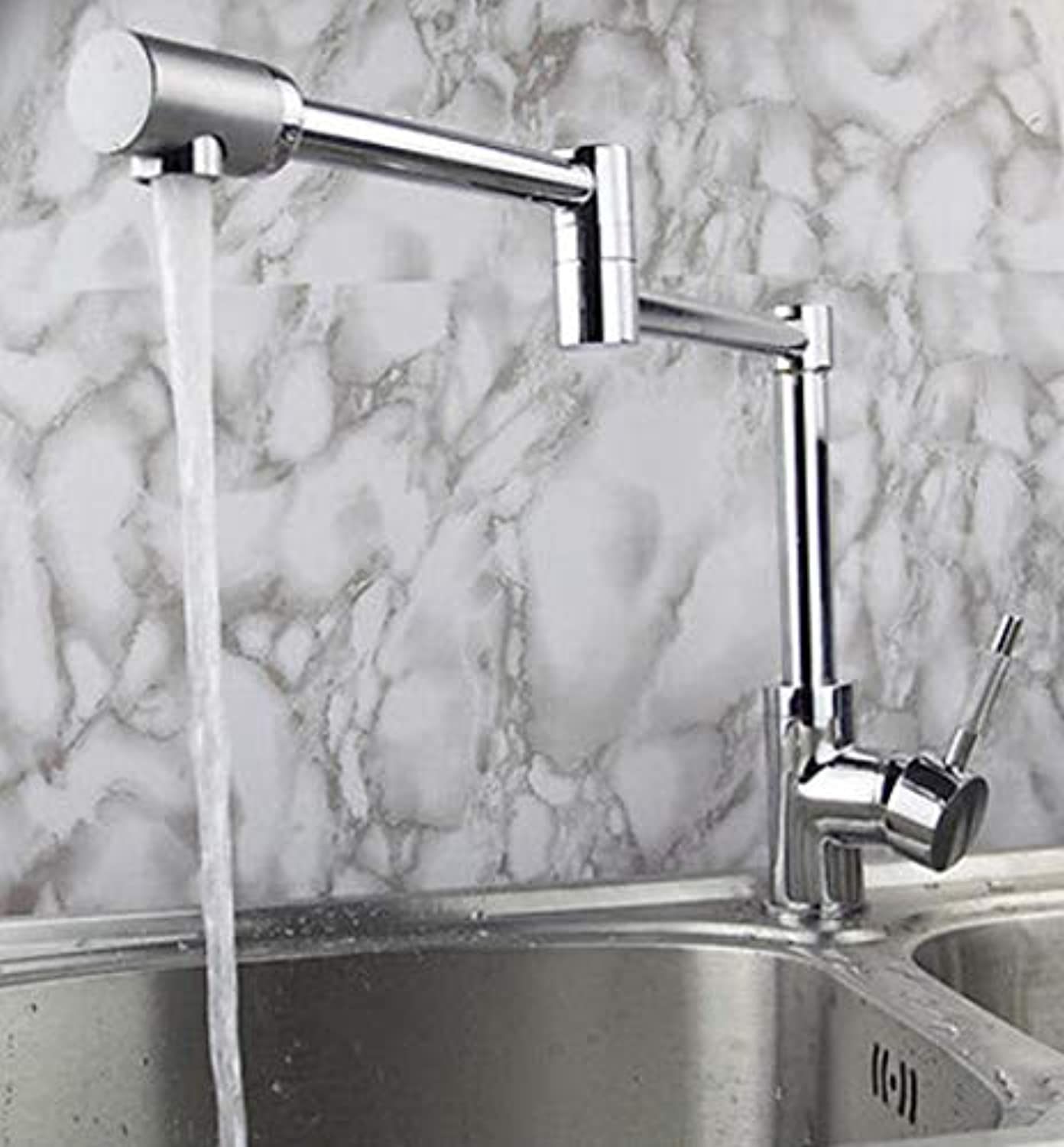 XiaoHeJD Neue Ankunft Messing Material Chrom Einhebel Hot and Cold Faltbare Spüle Wasserhahn Mixer
