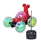 holilest Coche teledirigido, Control Remoto Stunt RC Car Camión Giratorio Giratorio de 360 ° con luz LED Intermitente roja