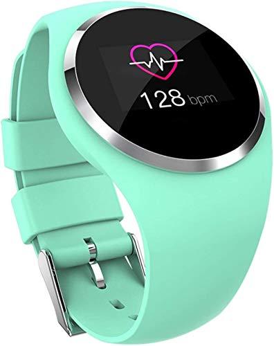 Reloj inteligente Bluetooth Fitness Tracker pulsera inteligente de frecuencia cardíaca impermeable monitor de presión arterial monitoreo del sueño reloj inteligente (color verde) - verde