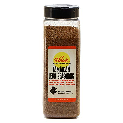 Helen's Tropical-Exotics Jerk Seasoning - 24 Ounce Shaker - Ultimate BBQ Caribbean Jamaican Jerk Seasoning Dry Rub for Chicken, Meats, Seafood and Vegetables - Made in the USA