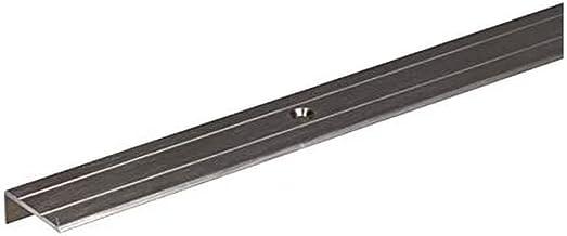 GAH-Alberts 490157 trapbeschermingslijst | geboord | aluminium, rvs-kleurig geanodiseerd | 1000 x 24,5 x 10 mm
