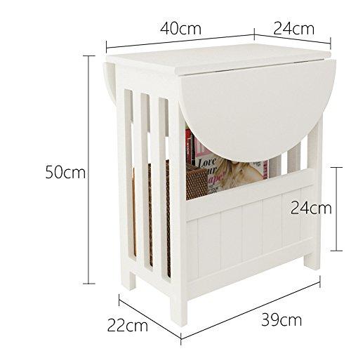 DEO Tabouret de bar Mini petite table peut être tournée table basse de Cabinet de sofa pour le salon durable