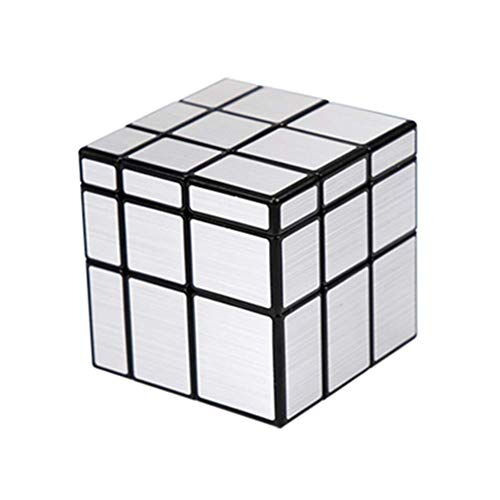 Cubo De Rubik 3X3 En Forma Mirror Cube Super Suave Puzzle Juego Rubik Regalo para Niños,Silver Rubik'S Cube