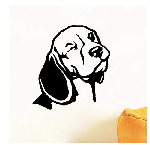 Pegatinas Coche Calcomanía De Pared Beagle De 16X15 Cm Para Decoración De Ordenador Portátil De Coche, Pegatina De Vinilo, Cabeza De Perro Beagle, Arte De Pared, Mural, Decoración De La Pared De La S