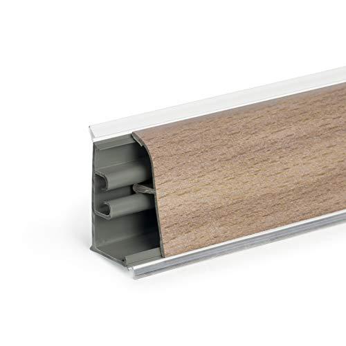 DQ-PP 2,5m + 0,5m GRATIS WINKELLEISTE   Buche   37 x 24mm   PVC   GRATIS Schrauben   Küchenleiste Arbeitsplatte Abschlussleiste Leiste Küche Küchenabschlussleiste Wandabschlussleiste