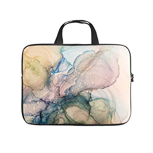 Neoprene Marble Texture Ink Laptop Case Bag Laptop Case Laptop -Modern Style for Men Women Boys Girls White 17 Zoll