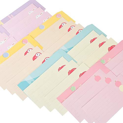 封筒16枚 便箋 48枚 レターセット 8セット 4種類セット 花柄 メッセージカード うちあけて告白 手紙 お礼 人気 お祝い 卒業 母の日 父の日 結婚式 可愛い デザイン 封筒付 ギフト カード 手書きで誕生日 (はな)